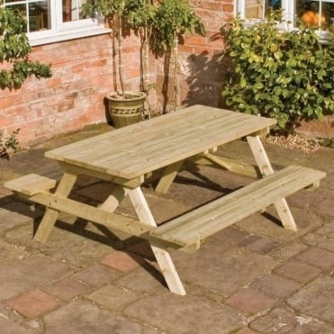 Picnic Table and Bench Set