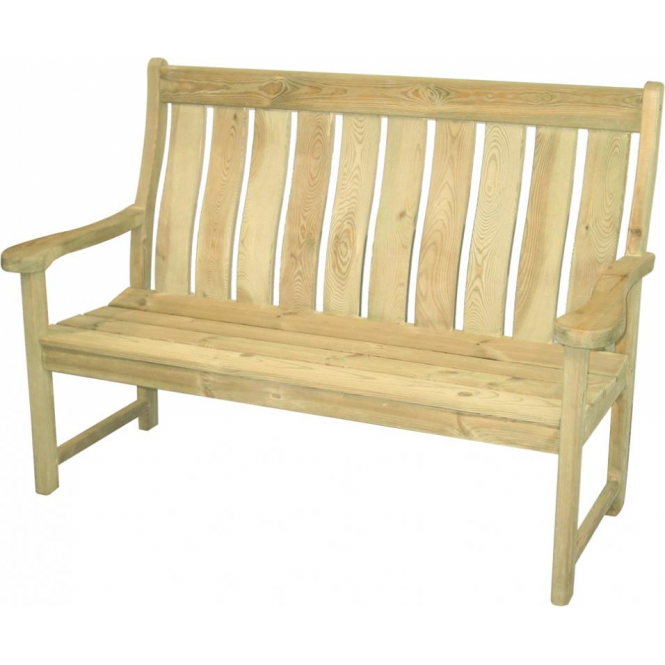 Alexander Rose Pine Farmers High Back Bench
