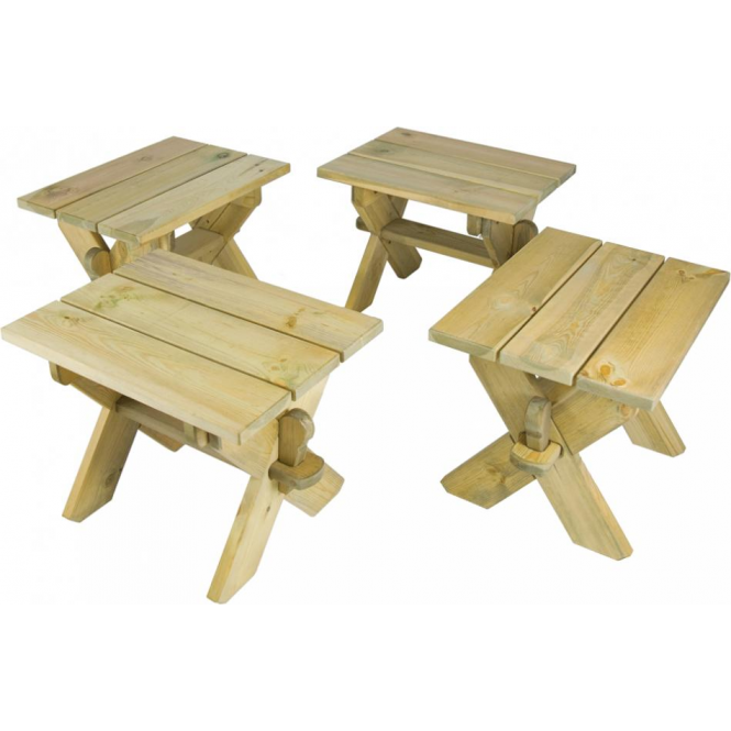 Pine Farmers Stools (4 pieces)