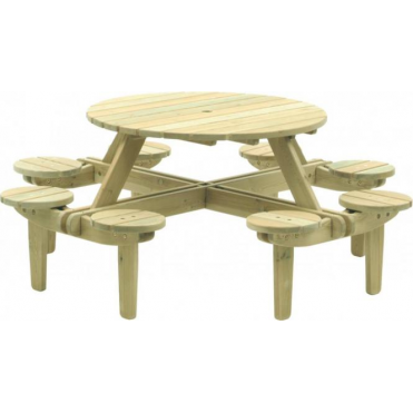 Pine Gleneagles Picnic Table - 8 Seater