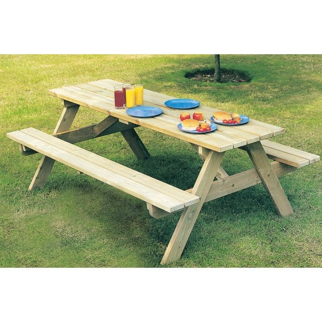Pine Woburn Picnic Table 2 Widths Available