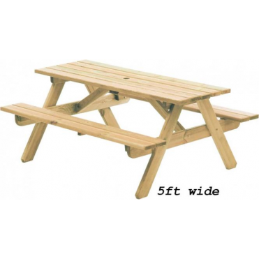 Pine Woburn Picnic Table - 2 widths available