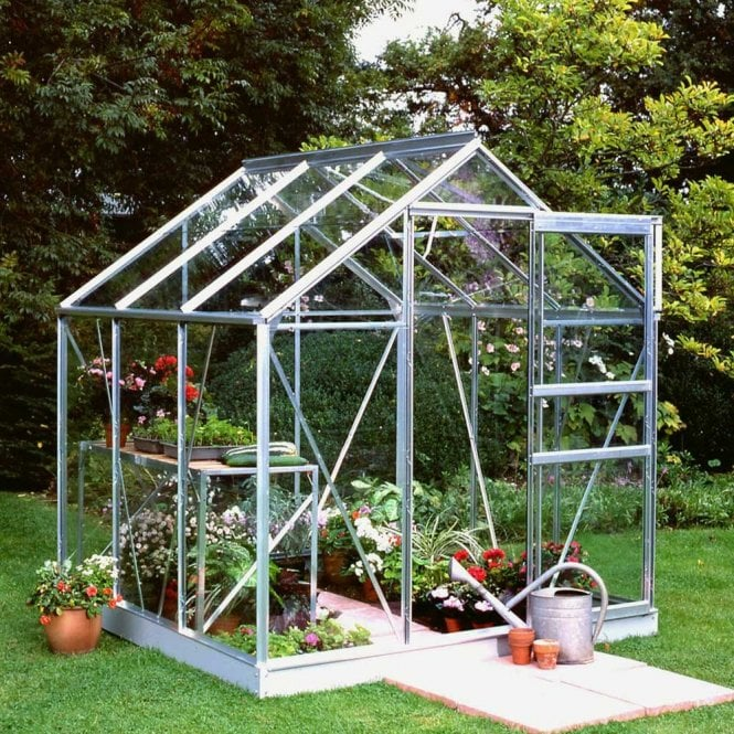 Click to view product details and reviews for Popular 6ft X 6ft Greenhouse Silver.