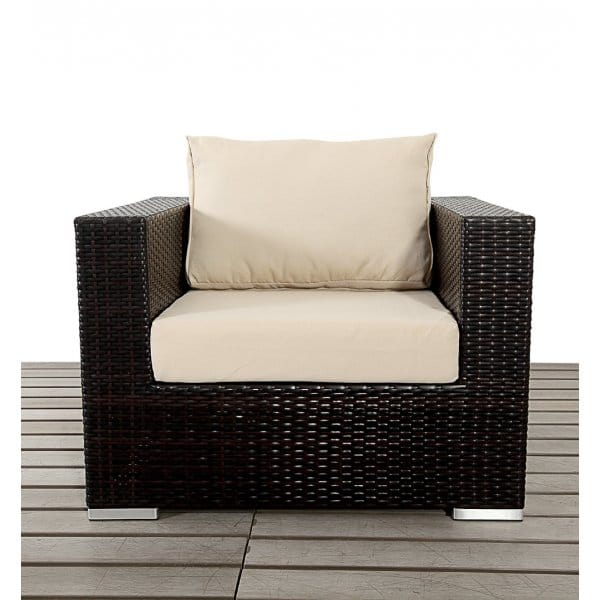 Luxe Brown Rattan Single Arm Chair  sc 1 st  Garden Chic & Port Royal Luxe Brown Rattan Single Arm Chair