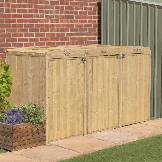 Click to view product details and reviews for Premium Pressure Treated Triple Bin Store.