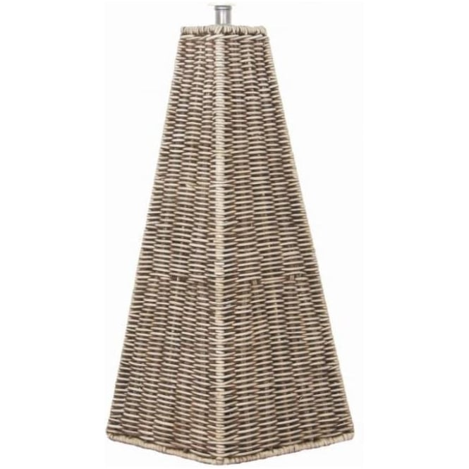 Click to view product details and reviews for Raffles Pyramid Cream Wash Rattan Table Lamp Base 50cm.