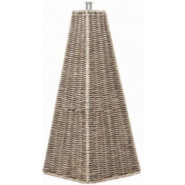 Raffles Pyramid Cream Wash Rattan Table Lamp Base 50cm