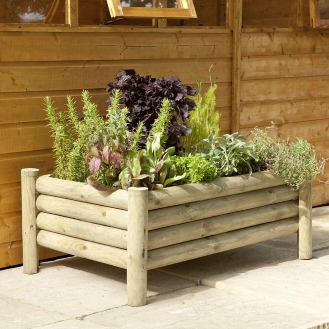 Click to view product details and reviews for Raised Log Planter Pressure Treated.