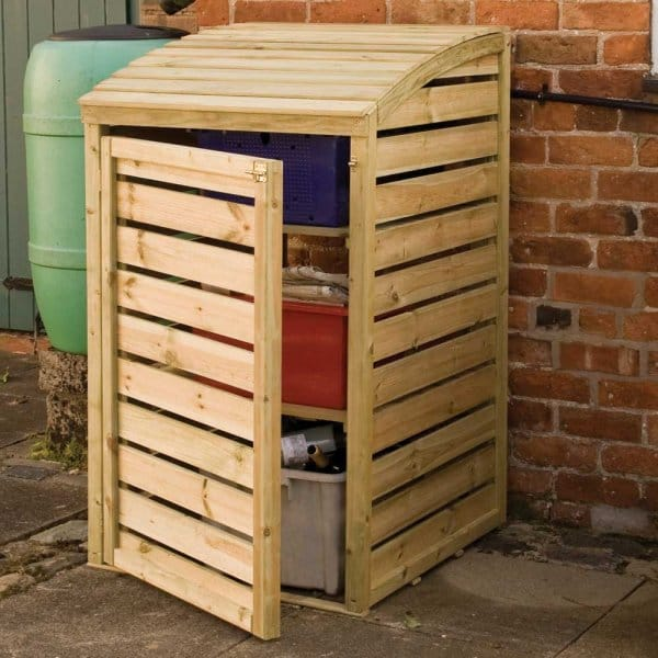 Recycling Box Store Fsc Approved Timber Frame Lifting Lid