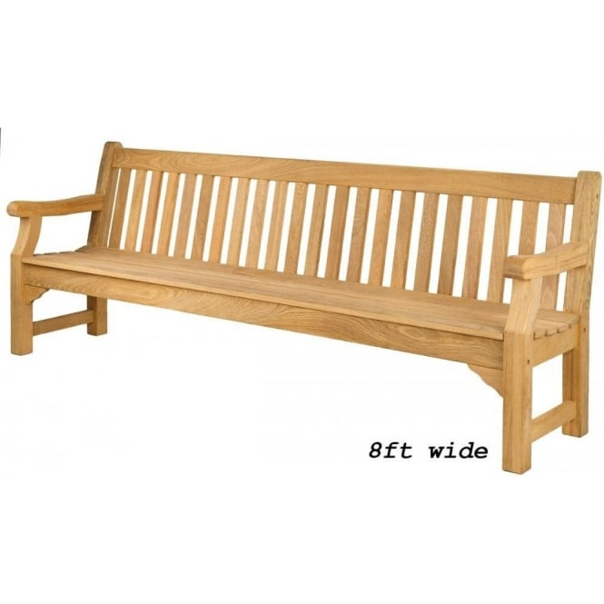 Roble Royal Park Bench - 3 widths available