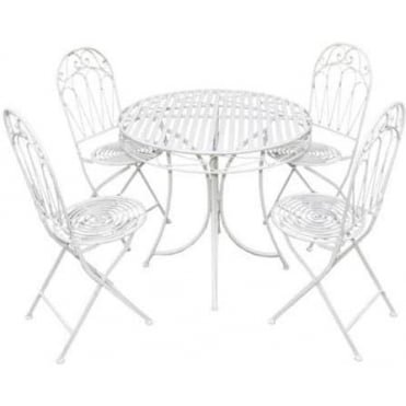 Romance 4 Person Dining Set 2 Colour Options