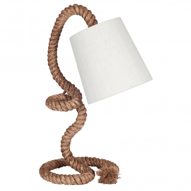 Click to view product details and reviews for Rope Task Table Lamp With Natural Shade.