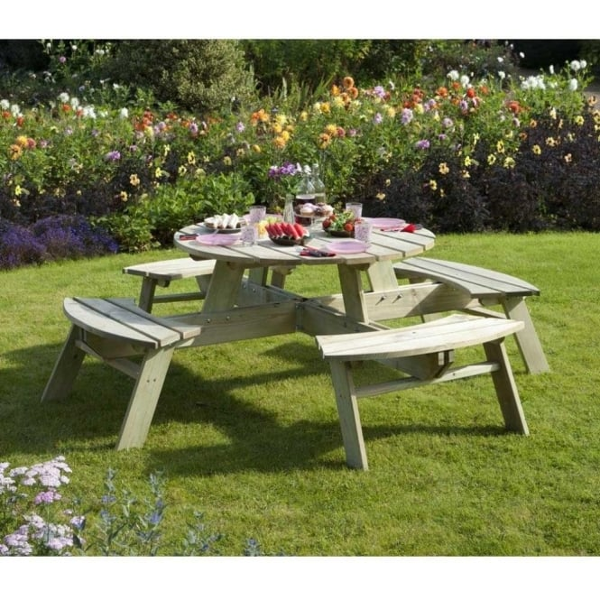Click to view product details and reviews for Round Picnic Bench.