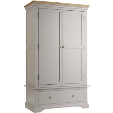 Rowlinson At Home Astbury Painted Wood 2 Door Wardrobe With Drawer