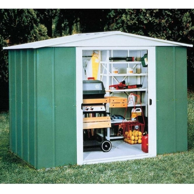 Click to view product details and reviews for Rowlinson Greenvale Metal Apex Shed 8 X 6.