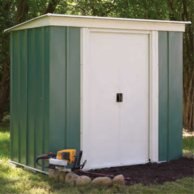 Click to view product details and reviews for Rowlinson Greenvale Metal Pent Shed 6 X 4.