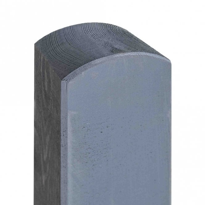 Rowlinson Painted Grey Fence Post 90mm