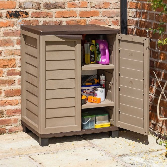 Click to view product details and reviews for Rowlinson Plastic Utility Cabinet Mocha.