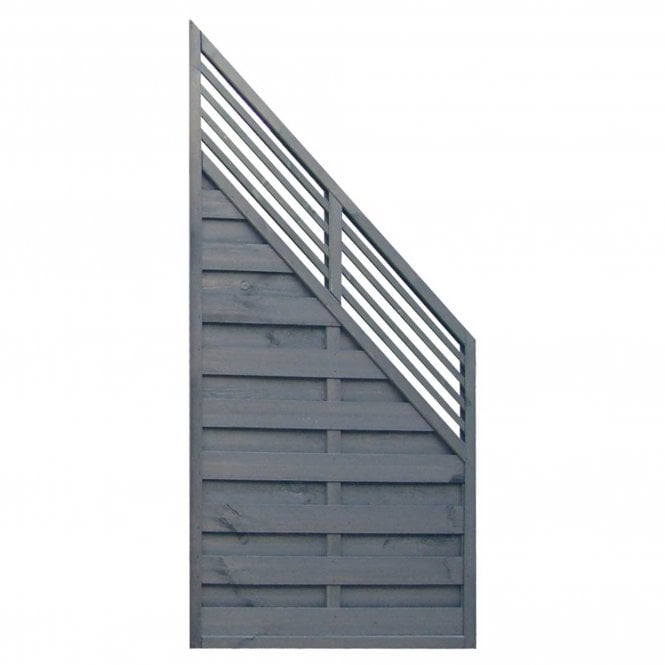 Rowlinson Sorrento Angled Slat Top Fence Panel