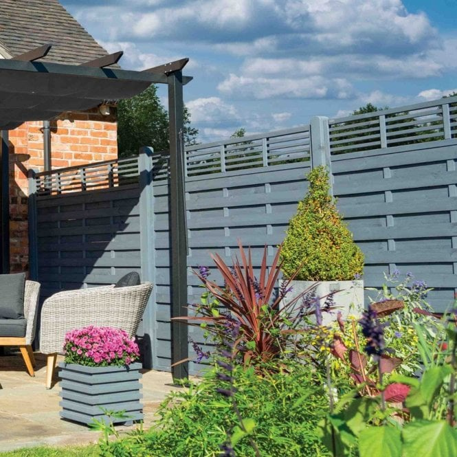 Click to view product details and reviews for Rowlinson Sorrento Slat Top Fence Panel.