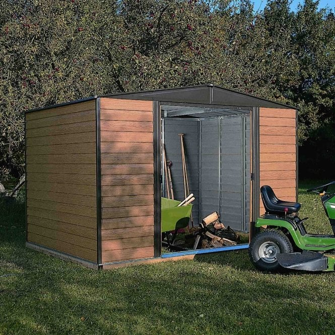 Click to view product details and reviews for Rowlinson Woodvale Metal Apex Shed 10 X 6.