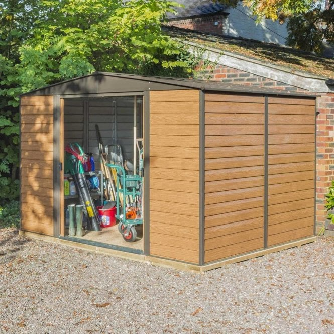 Click to view product details and reviews for Rowlinson Woodvale Metal Apex Shed 10 X 8.