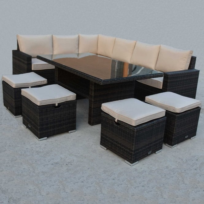 Click to view product details and reviews for Royalcraft Dallas Brown 7 Piece Standard Corner Dining Set.