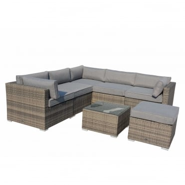 Royalcraft Dallas Grey 7 Piece Corner Set