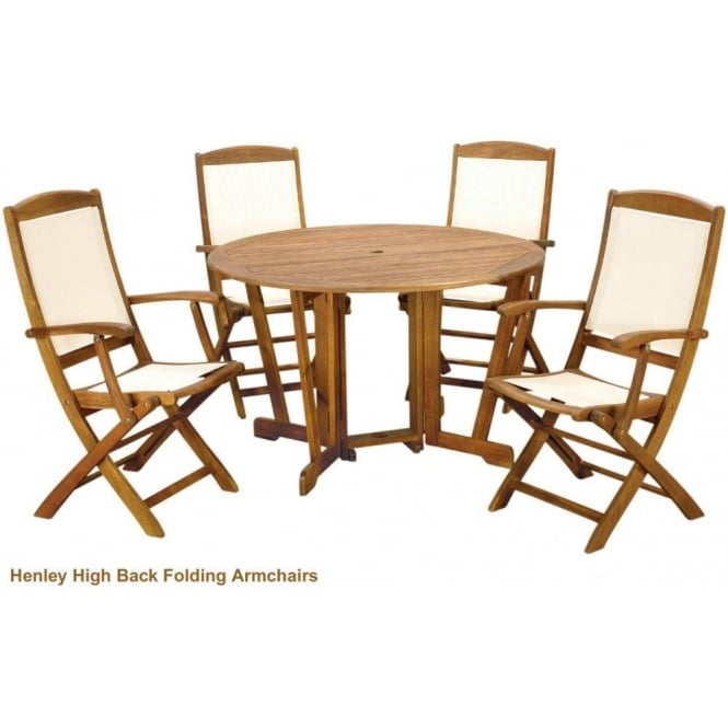 Henley Round Gateleg Table with 4 Henley Chairs