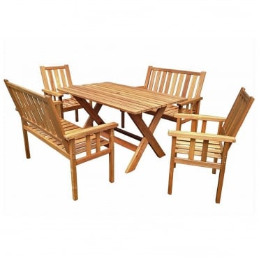 Royalcraft Homestead Bench Dining Set