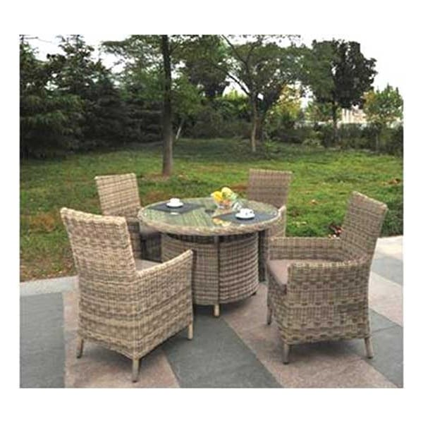 Modena 4 Person Carver With Lazy Susan Comfort Garden
