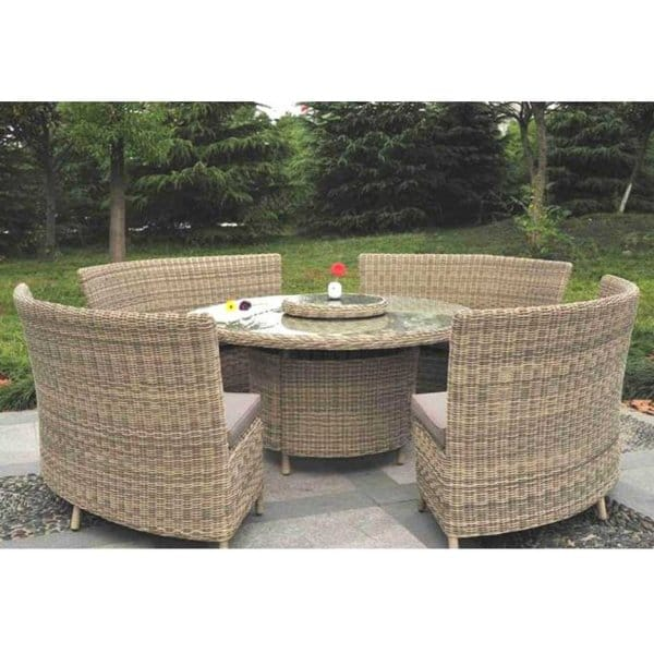 Modena 8 / 12 Person Rattan Garden Dining Set With Lazy Susan