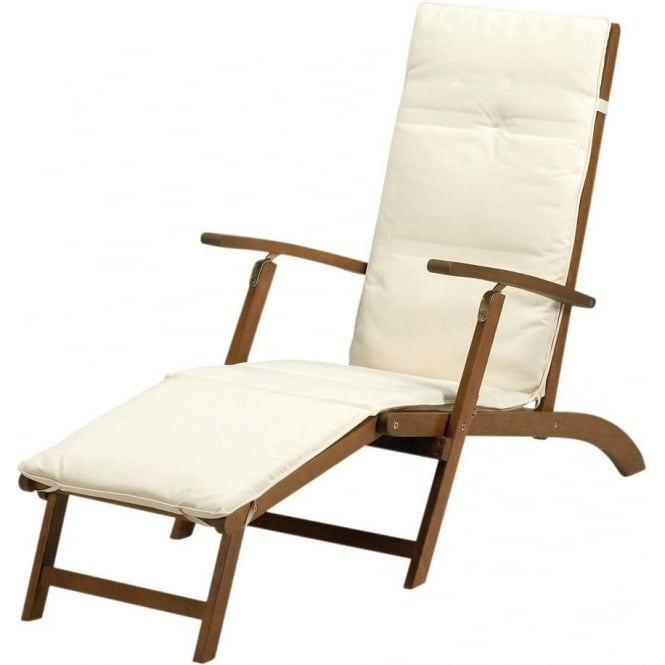 Royalcraft Napoli Steamer Chair With Cushion   2 Colour Choices