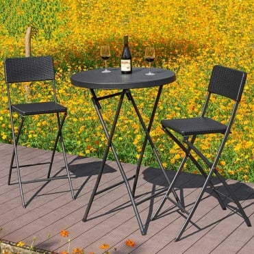 Royalcraft Palermo Folding Bar Table and Chairs