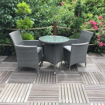Royalcraft Paris Bistro Set with Carver Chairs