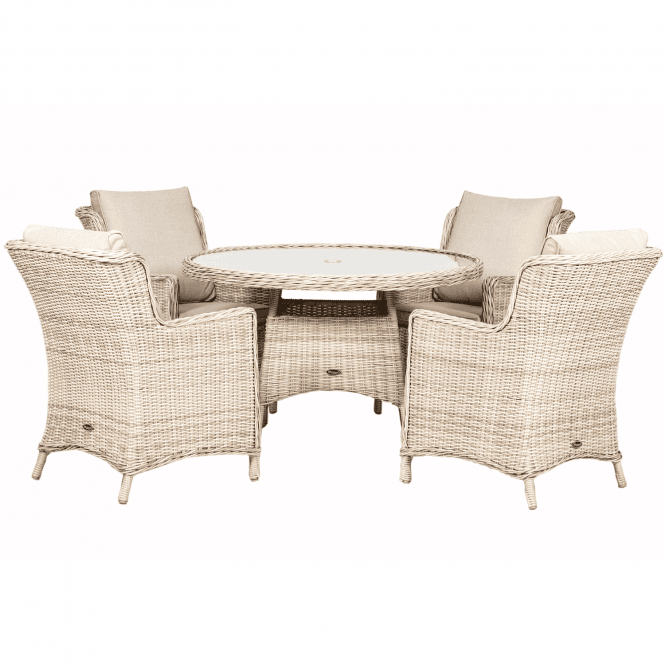 Click to view product details and reviews for Royalcraft Seychelles 4 Seater Round Comfort Dining Set.