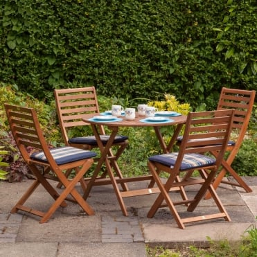 Royalcraft Torino 4 Seater Round Dining Set