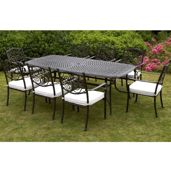 Versailles 8 Person Rectangular Dining Set 2 Chair Options