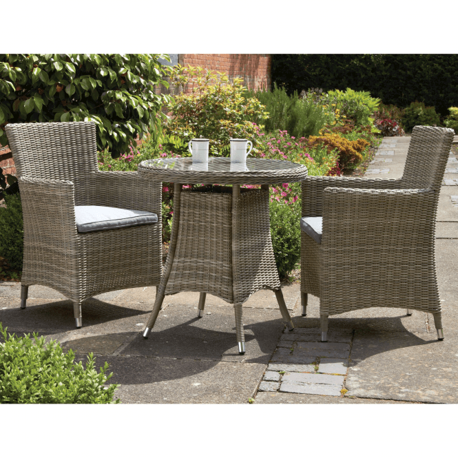 Royalcraft Wentworth 2 Seater Bistro Set With Carver Chairs