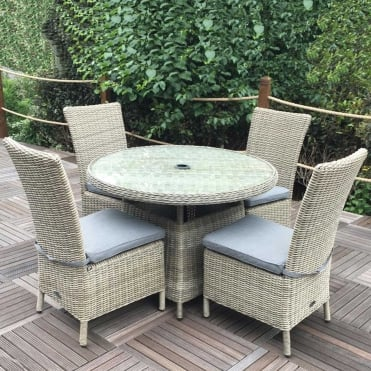 Royalcraft Wentworth 4 Seater Round Dining Set