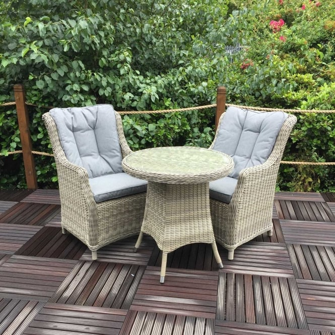 Click to view product details and reviews for Royalcraft Wentworth Bistro Set With High Back Comfort Chairs.