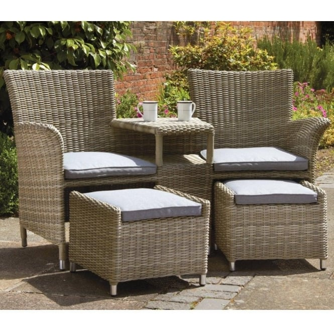 Wentworth Fixed Companion Set with Footstools