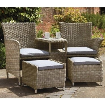 Royalcraft Wentworth Fixed Companion Set with Footstools