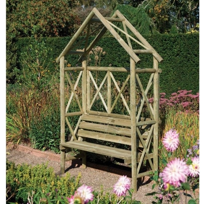 Click to view product details and reviews for Rustic Arbour Seat.