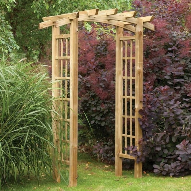Ryeford Arch With Trellis Side Panels