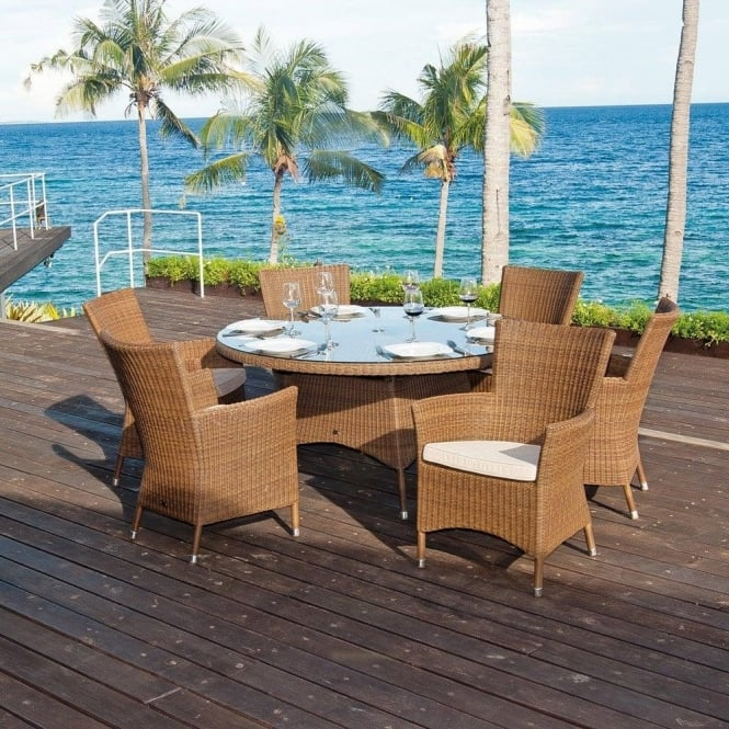 San Marino Round Outdoor Six Person Dining Set