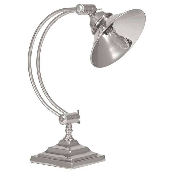 Click to view product details and reviews for Shiny Nickel Task Table Lamp.
