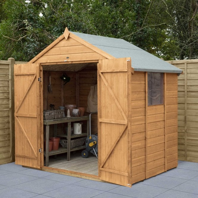 Click to view product details and reviews for Shiplap Dip Treated 7x5 Apex Shed Double Door.
