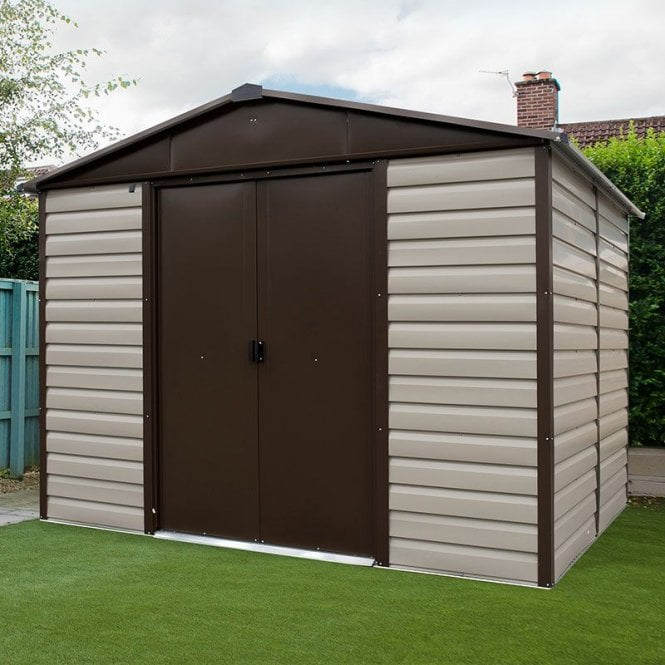 Click to view product details and reviews for Shiplap Metal Shed With Floor Support Kit 8 X 6.