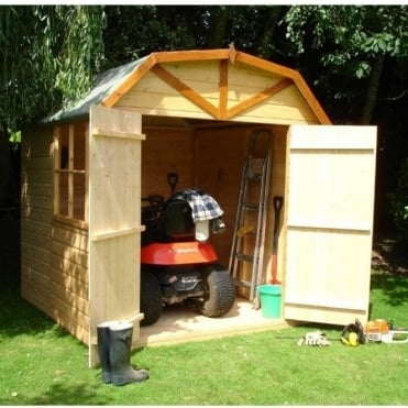 Barn 7x7 Garden Shed - High Roof - Double Doors